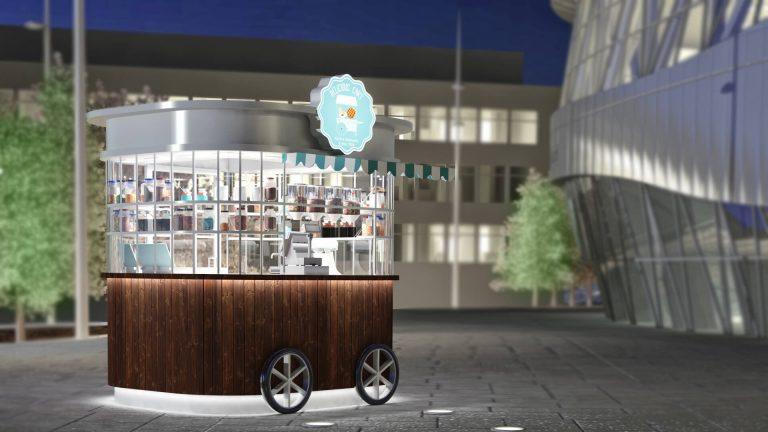 تصميم كشك | Delicious Cart Kiosk Design