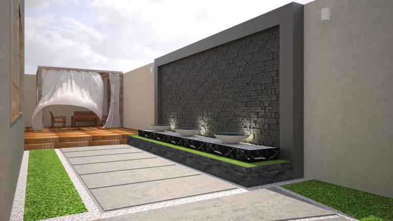 تصميم فناء فيلا خارجي | Private Villa Courtyard Design