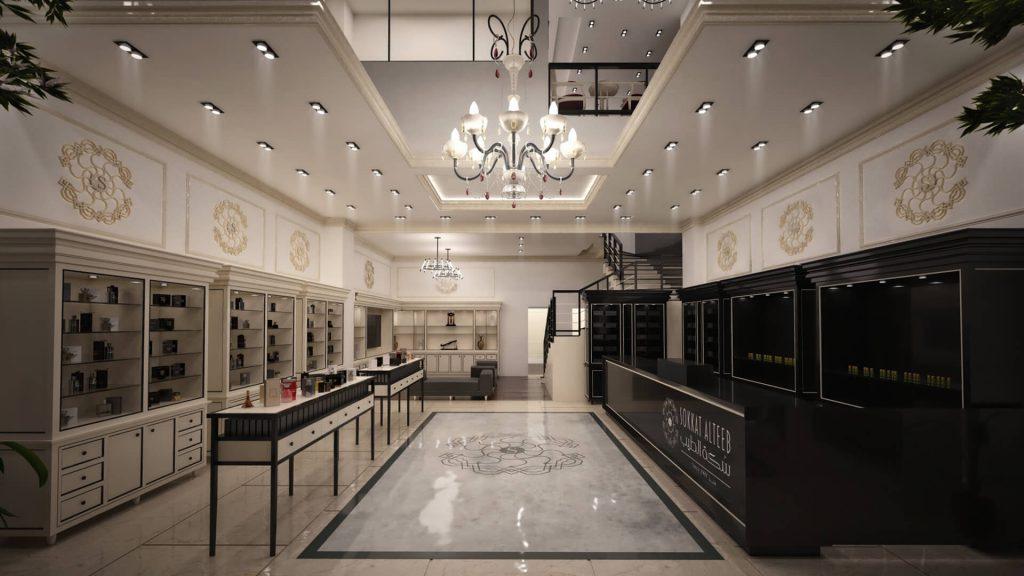 تصميم معرض | Designing Perfume Showroom