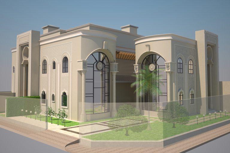 تصميم واجهات وفناء فيلا | Designing villa courtyard